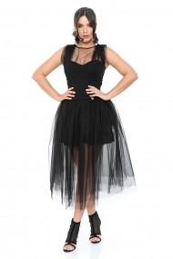 Rochie din tulle cu corset InnaB Nabila Negru