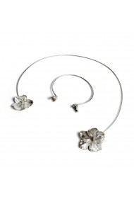 Bratara si accesoriu gat Flower Set Bubble of Beauty Jewelry 011 Argintiu