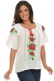 Ie traditonala romanesca Dress To Impress broderie motiv trandafiri