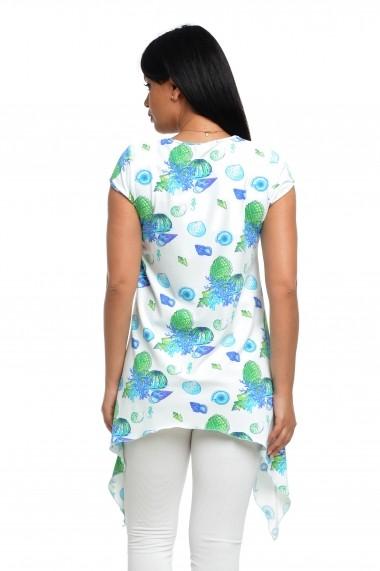 Tricou Dress To Impress cu colturi lungi alb marin