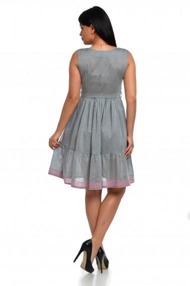 Rochie e zi Dress To Impress brodata din bumbac