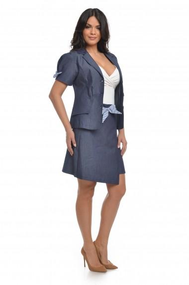 Costum din denim Dress To Impress sacou si fusta