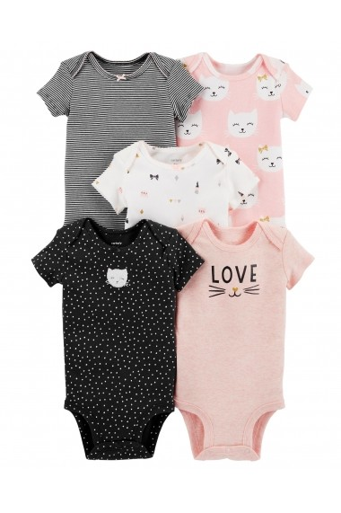 Carters Set 5 Piese - body love, pisicute dungi si buline