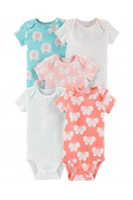 Carters- Set 5 piese - body Elefant bumbac