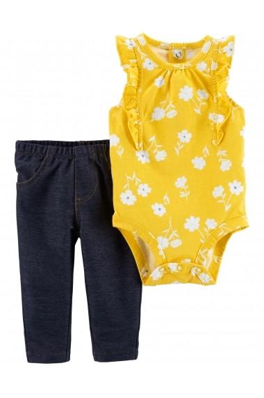 Set 2 Piese Floral Carters body si pantaloni