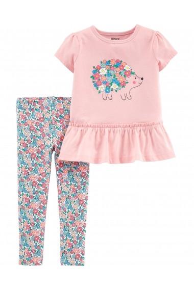 Set 2 Piese Arici Carters bluza cu arici si pantaloni florali