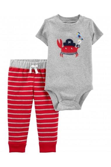 Set 2 Piese Crab Carters pantaloni lungi si body
