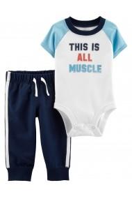 Set 2 Piese Atletic Carters pantaloni si body bumbac
