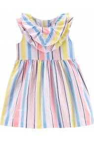 Rochie eleganta cu dungi multicolore si chilotel Carters bumbac