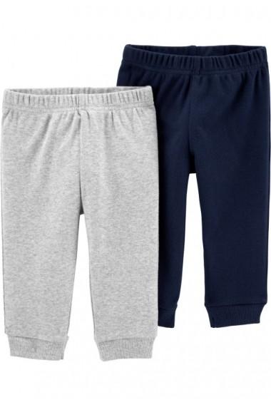Set 2 piese pantaloni bleumarin, gri Carters 100% Bumbac Organic
