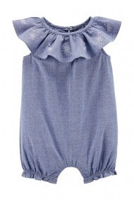 Salopeta albastra Carters de vara 100% bumbac organic