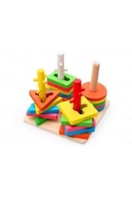 Set de construit Montessori cu 4 forme