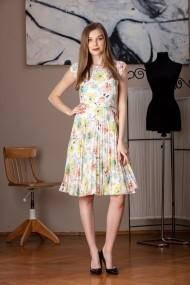 Дневна рокля миди Giorgal Diana с тюл, флорални мотиви