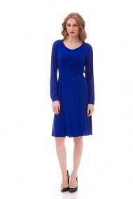 Rochie de zi midi Giorgal din tricot Loranda albastra