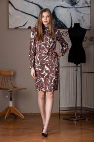 Rochie de zi midi Giorgal imprimata Vendis maro