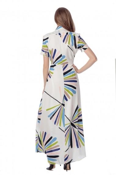 Rochie de zi lunga Giorgal cu imprimeu multikcolor Nissia Print