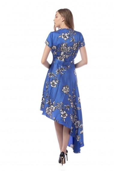 Rochie de seara midi Giorgal Fizia albastra