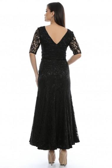Rochie de seara lunga Giorgal din dantela Cler neagra