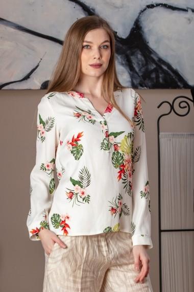 Bluza Giorgal casual viscoza Balkan alba, floral