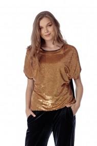Bluza Giorgal eleganta cu paiete aurii Lumia
