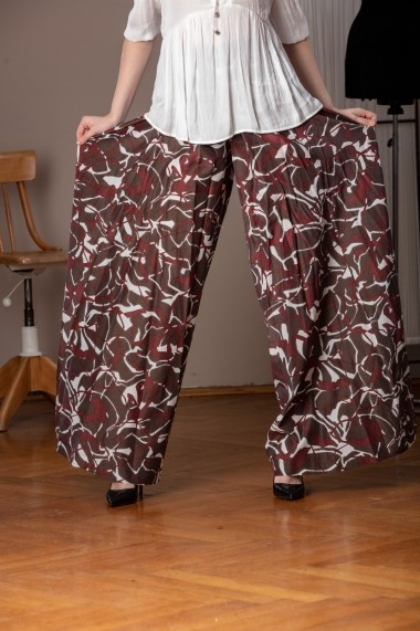 Pantaloni largi Giorgal palazzo Miliam maro