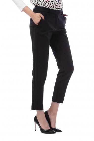 Pantaloni drepti Giorgal Rose negri