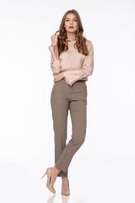 Pantaloni drepti Giorgal Felicia maro