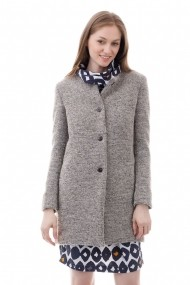 Palton Giorgal din lana Tammy gri