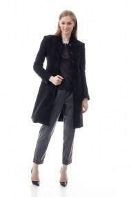 Palton Giorgal din lana Mara negru