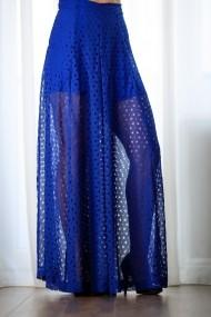 Pantaloni largi palazzo albastri ultra chic, Star