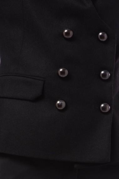 Sacou Giorgal cambrat din lana Star negru