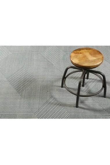 Covor Esprit Modern & Geometric Velvet Groove, Gri, 120x170