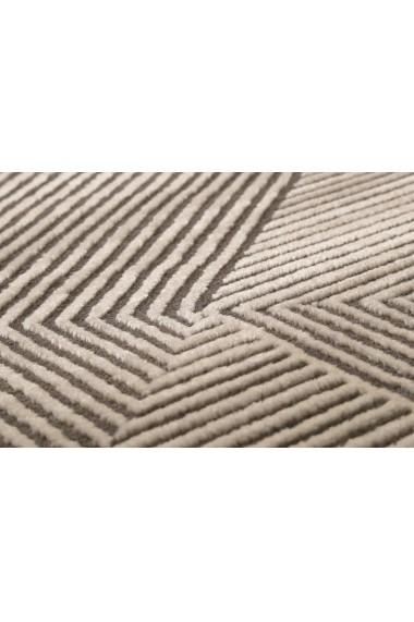 Covor Esprit Modern & Geometric Velvet Groove, Bej, 133x200