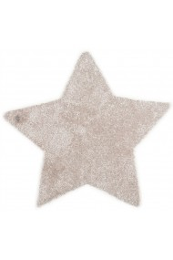 Covor Tom Tailor Shaggy Soft Forma Stea Bej 100x100 cm
