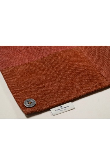 Covor Tom Tailor Patchwork Smooth Comfort Rosu 65x135 cm