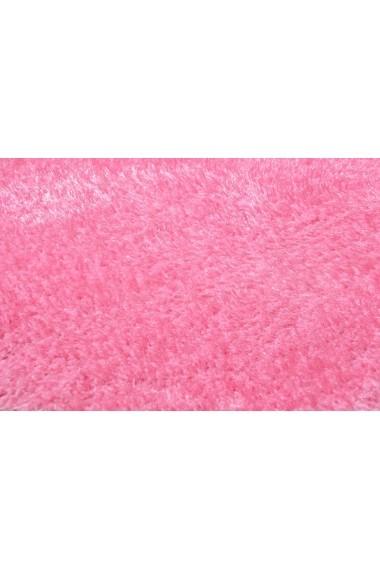 Covor Tom Tailor Shaggy Soft Roz 65x135 cm