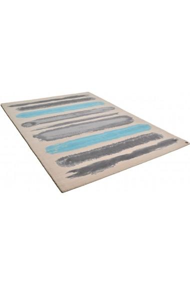 Covor Tom Tailor Modern & Geometric Columbus Albastru 160x230 cm