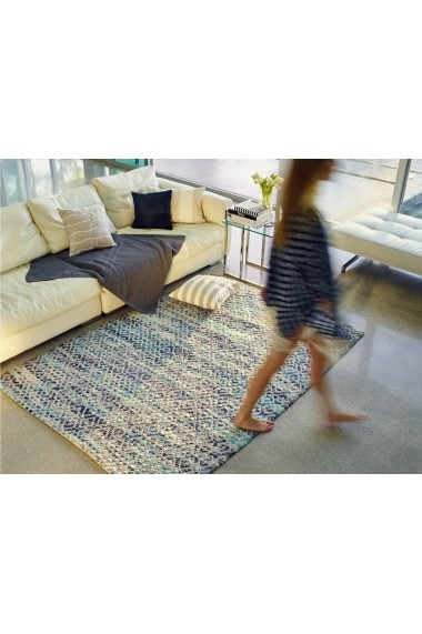 Covor Tom Tailor Modern & Geometric Smooth Comfort Albastru 85x155 cm