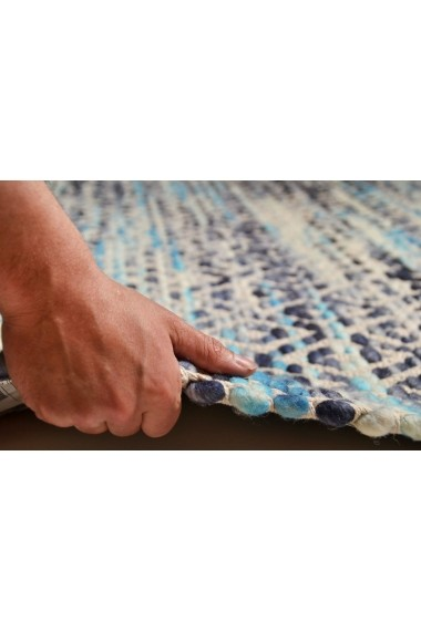 Covor Tom Tailor Modern & Geometric Smooth Comfort Albastru 160x230 cm