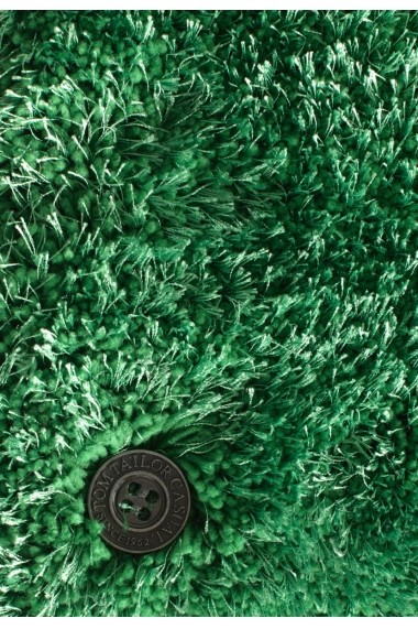 Covor Tom Tailor Shaggy Soft Verde 190x190 cm