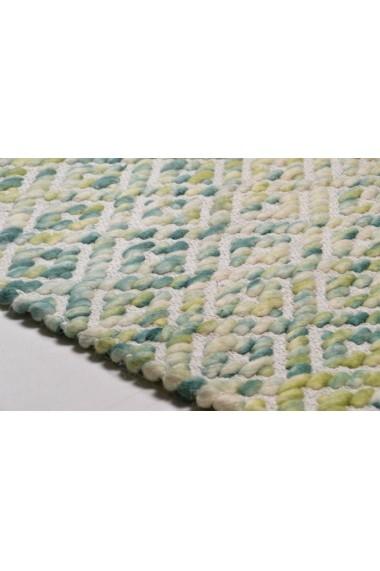Covor Tom Tailor Modern & Geometric Smooth Comfort Verde 85x155 cm