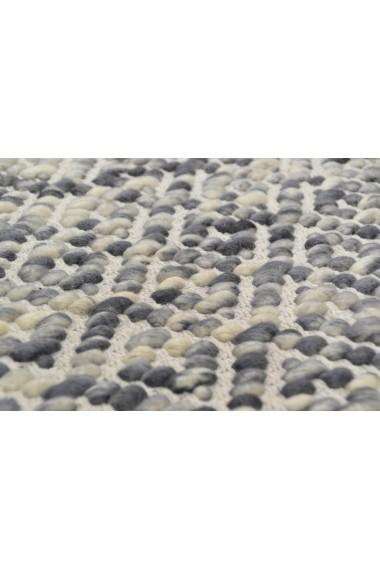 Covor Tom Tailor Modern & Geometric Smooth Comfort Gri 65x135 cm