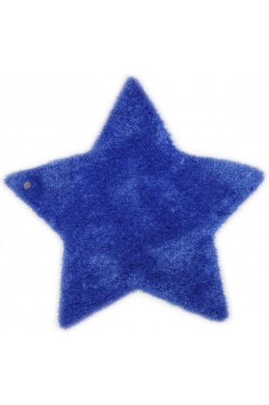 Covor Tom Tailor Shaggy Soft Forma Stea Albastru 100x100 cm