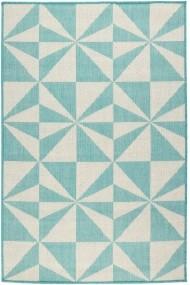 Covor Decorino Modern & Geometric Jorvik Turcoaz 100x150 cm