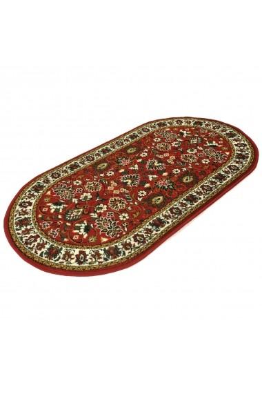 Covor Decorino Oriental & Clasic Homer Oval Rosu 80x150 cm