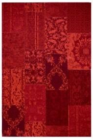 Covor Decorino Patchwork Priene Rosu 57x110 cm