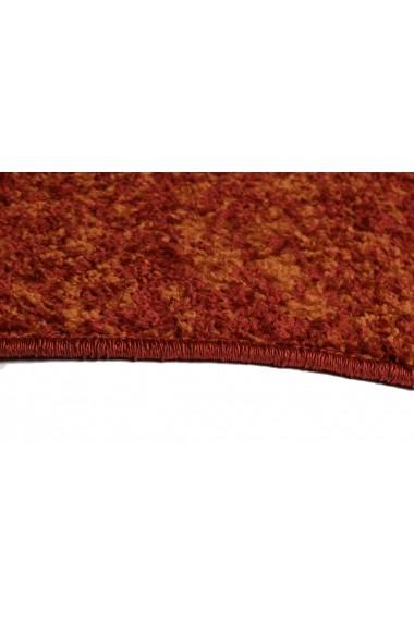 Covor Decorino Unicolor Oran Rosu 67x120 cm