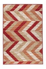 Covor Decorino Modern & Geometric Caramel Rosu 100x150 cm