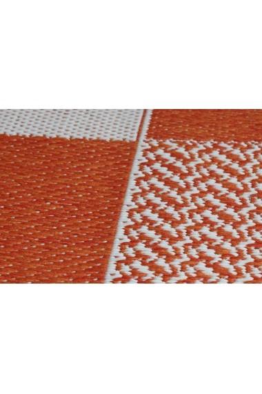 Covor Decorino Modern & Geometric Fox Portocaliu 67x120 cm