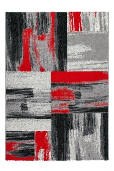 Covor Decorino Patchwork Pavia Rosu 80x150 cm